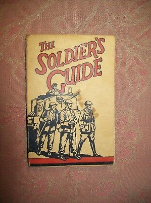 """The Soldiers Guide"" World War II - WWII - Military Manual - Religeous text."