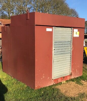 Steel Double Bunded Fuel Tank Red & White  Diesel Electic Pumps 4000litres