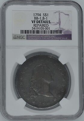 1794 Flowing Hair Dollar $1 VF Details NGC WOW!
