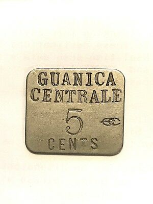 Puerto Rico Token - Guanica Centrale , 5 Cents