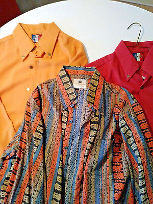 Vintage 70's L/S Dress Shirts 1- Aroma & 2-( Liberty -Made in Italy )