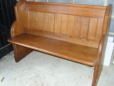 church pew (pitch pine)bench/dining room/living kitchen