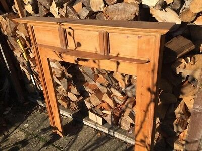 Vintage Pine Fire Surround With Mantle