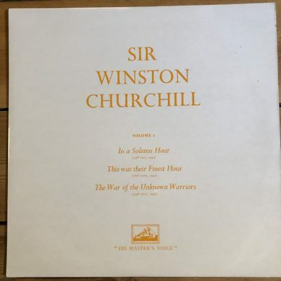 ALP 1435 Sir Winston Churchill Vol. 1 / Solemn Hour, Finest Hour, etc.