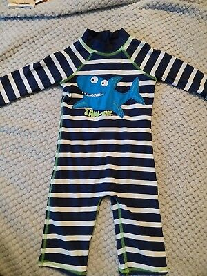 BOYS SUN SAFE SWIMMING Suit BY Debenhams AGE 18-24 MONTHS