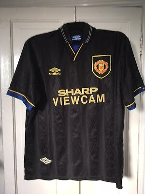 Viewcam Manchester United Shirt Rare Black '98 3rd L