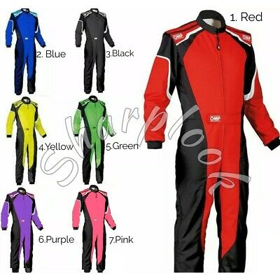 OMP GREEN-BLACK GO KART RACING SUIT CIK FIA LEVEL II Standard