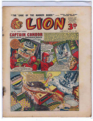 Lion 16th May 1953 (#65, high grade) Captain Condor, Amazing Advs of Mr X