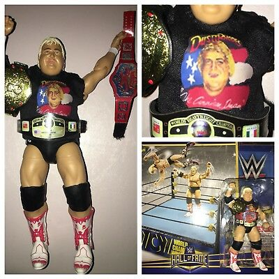 WWE Wrestling Hall of Fame Retro WCW Ring Exclusive Playset, Dusty Rhodes Figure