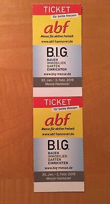 2x Ticket abf / B.I.G. Messe Hannover 30.01.-03.02.2019