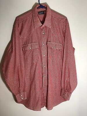 Vintage Levis Button Down Shirt Mens Medium 1970s 1980s Made In USA