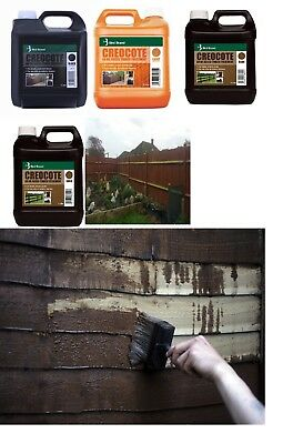 4Ltr Creocote Oil Based Creosote Shed,Fines Posts & Exterior Timber Treatment