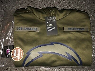 Wholesale LOS ANGELES CHARGERS Salute to Service Therma Fit Hoodie 2018 Nike