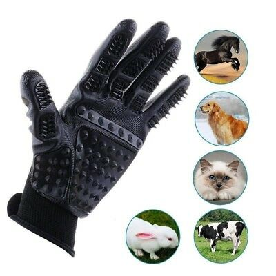 Pet Grooming Glove Gentle Petting Glove Brush Massage Tools True Touch One Pair
