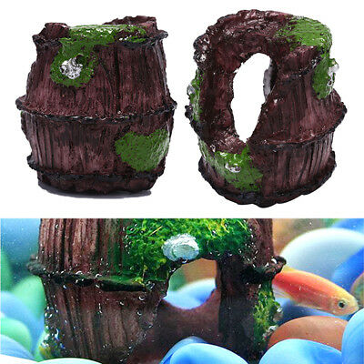 Aquarium fish tank barrel resin ornament cave landscaping furnishing decoratePLZ