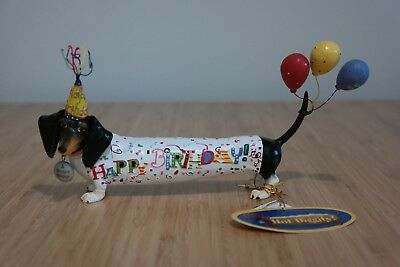 Westland Hot Diggity Dachshund Dog Happy Birthday Figurine