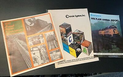 Chessie System Annual Reports for 1976, 1977, 1978