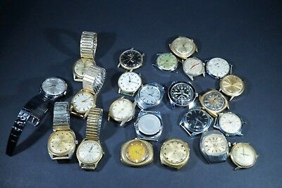 Vintage Lot Of 23 Watches  Parts