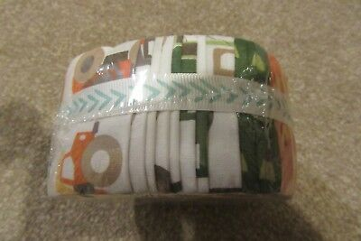 'Work Zone' Jelly roll, 100% cotton 2.5 inch strips for quilting