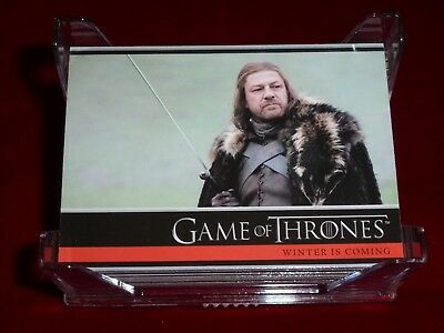 Game of Thrones Season 1 One 2012 Complete Base Set 1-72!  Tough!