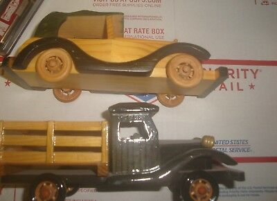 Hand Crafted wooden car and truck