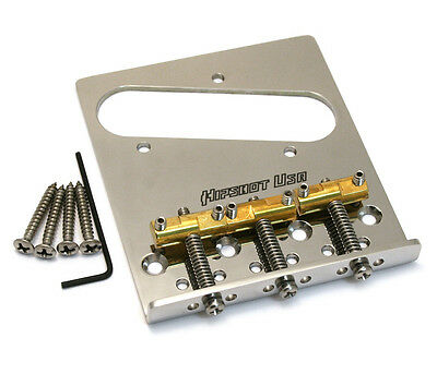 Hipshot Compensated Brass 3-Saddle Bridge for Fender Telecaster/Tele® 44100SS-V3