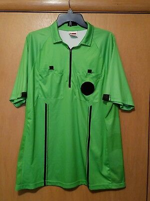 41c588419 Winners Sportswear USSF Pro Soccer Referee Jersey Shirt Green SS Mens Large  Used