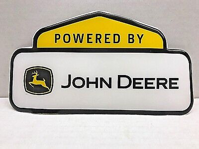 "John Deere Power Sign Poster Banner Label Decal 3"" Long"