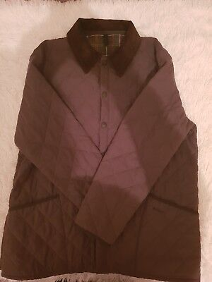 Mens barbour quilted jacket xl