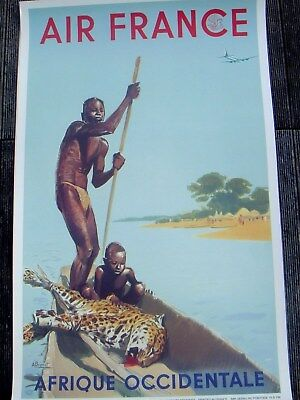 "Affiche AIR FRANCE ""Afrique Occidentale"""