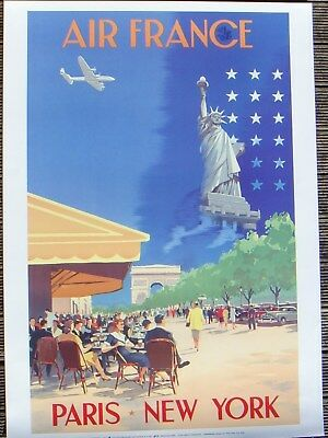 Affiche AIR FRANCE Paris New-York