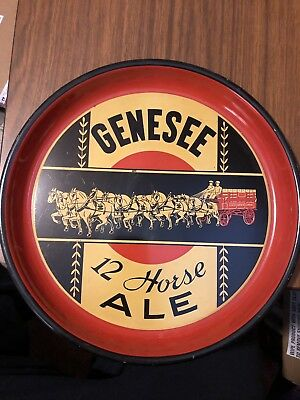 Scarce Post Pro Genesee 12 Horse Ale Beer Tray Genesee Brewing Rochester, NY