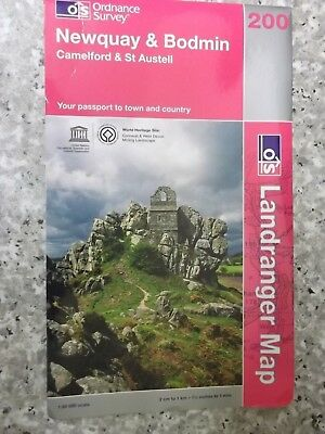 Ordnance Survey Landranger Map  Newquay & Bodmin (Camelford & St. Austell.