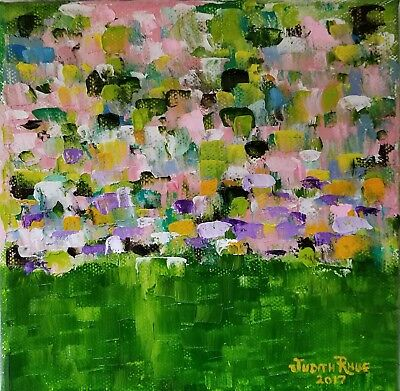 JUDITH RHUE oil painting abstract landscape colorful expressionism original art