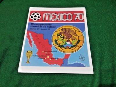 Fifa 1970 Mexico World Cup Panini Official Reprint Album Full Color Images