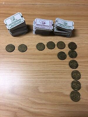 Chuck E. Cheese Tokens and Tickets