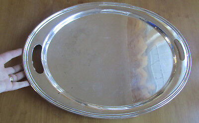 "Solid Sterling Silver Wallace Large (20""x14"") Oval Platter, 1,688 grams Coventry"