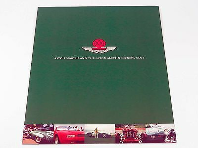 Official Aston Martin Owners Club Brochure Catalog 1996