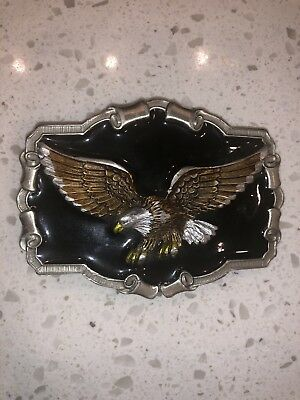 Awesome Buckle! The Great American Buckle Co. Bald Eagle Serial #QD1243 USA 1983