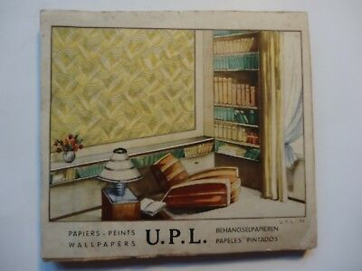 Catalogue Papier Peint Upl 1937 Vintage Wallpaper Catalog Gemaltes Papier