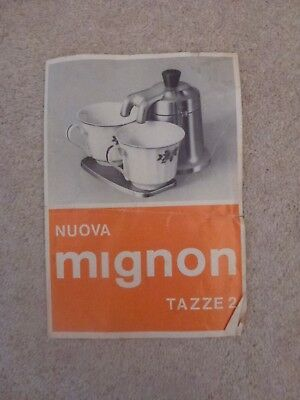 Nuova Mignon Tazze 2 (Coffee maker) Instruction leaflet