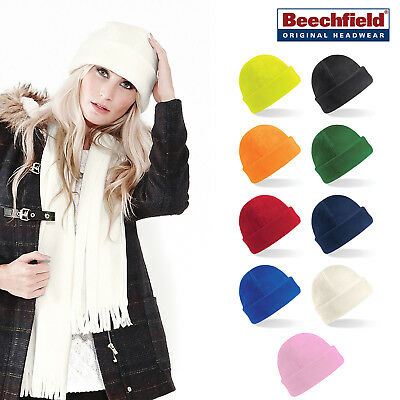 Beechfield Cuffed Ski Hat - Warm thermal winter Suprafleece hat for Men/Women