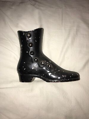 Antique Cast Iron Victorian Button Up Lady's  Boot