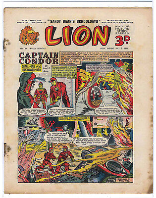 Lion 2nd May 1953 (#63, high grade) Captain Condor, Amazing Advs of Mr X