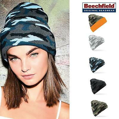 Camo Cuffed Beanie - Beechfield Urban warm winter casual stylish hat men/women