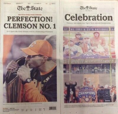 2018 Clemson Tigers National Champions - The State Newspaper - New Non-Cirulcate