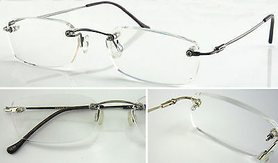 L279 Superb Quality Rimless Reading Glasses/Flexible Steel Arm/Lightweight Style