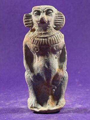 Very Rare- Circa 1500-332Bc Ancient Egyptian Taweret Godess Of Childbirth Amulet