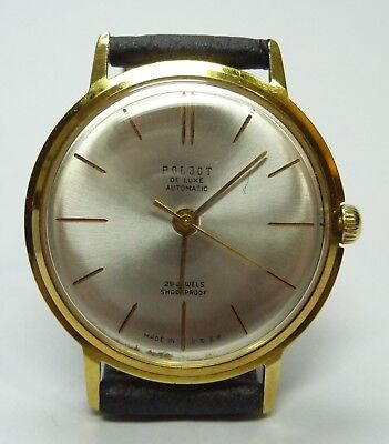 Vintage Gold Plated Poljot De Luxe 29 Jewel Automatic Watch (Poljot 2415 Orbita)