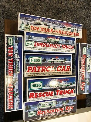 hess toy truck lot- Set Of 7 Hess Trucks From 1990s